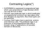 contrasting logics