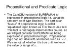 propositional and predicate logic
