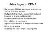 advantages of cdma