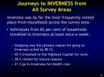 journeys to inverness from all survey areas