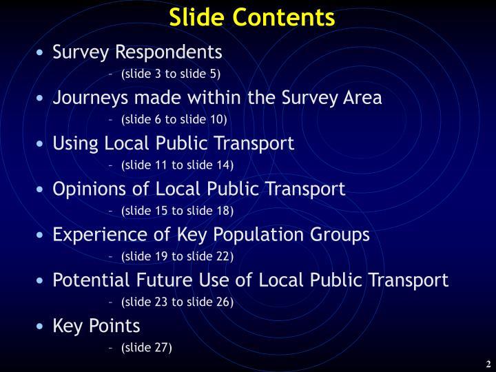 Slide contents