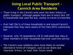 using local public transport cannich area residents
