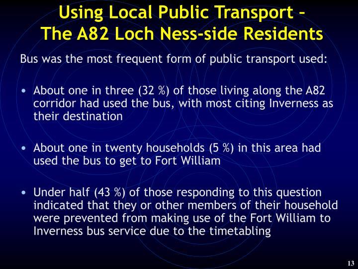 Using Local Public Transport –