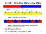 clock random reference bits
