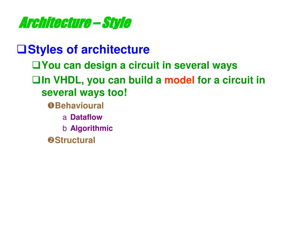 Architecture – Style