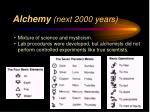 alchemy next 2000 years