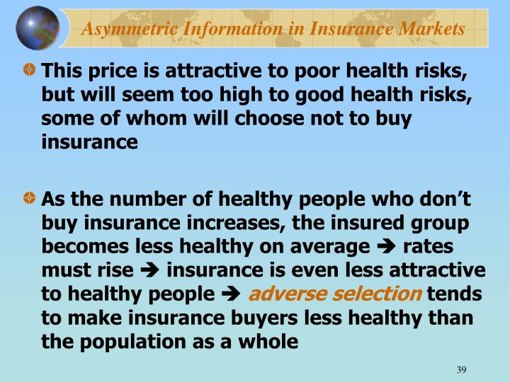 Asymmetric Information in Insurance Markets