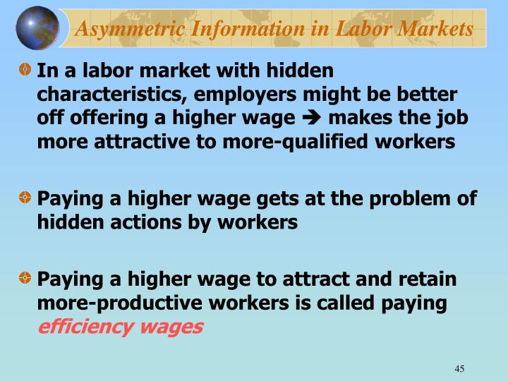 Asymmetric Information in Labor Markets