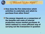 bounds of the firm1
