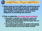 hidden actions principal agent problem1