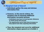 marginal cost of search