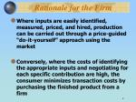 rationale for the firm2