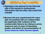 signaling and screening1