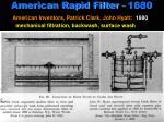 american rapid filter 1880