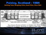 paisley scotland 1804 settling tank roughing filter sand filter clear well