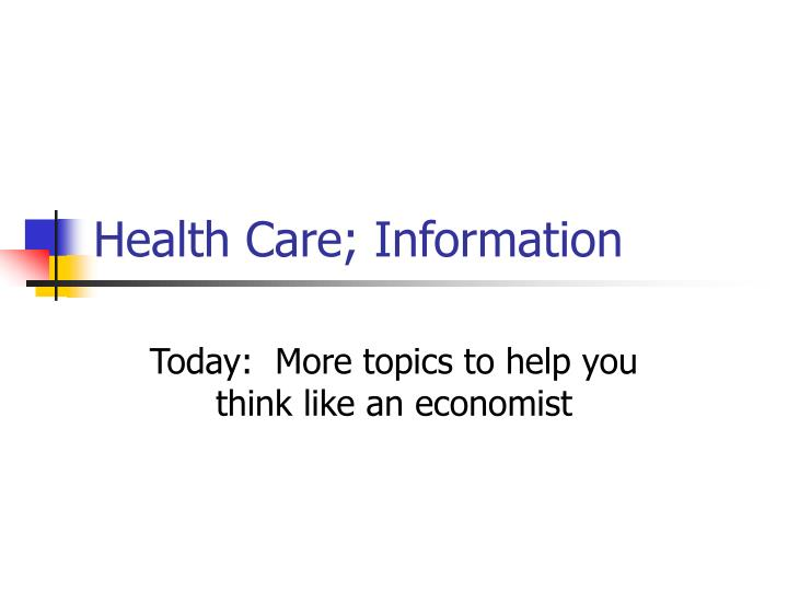 health care information n.