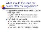 what should the used car dealer offer for yugo limos2