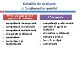 criteriile de evaluare a func ionarilor publici