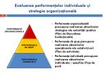 evaluarea performan elor individuale i strategia organiza ional