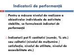 indicatorii de performan