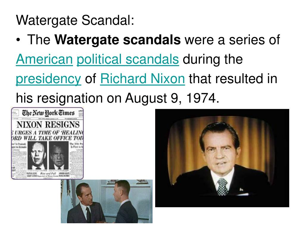 watergate political scandal