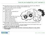 how do you budget for a car scenario 1