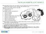 how do you budget for a car scenario 11