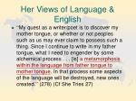 her views of language english16