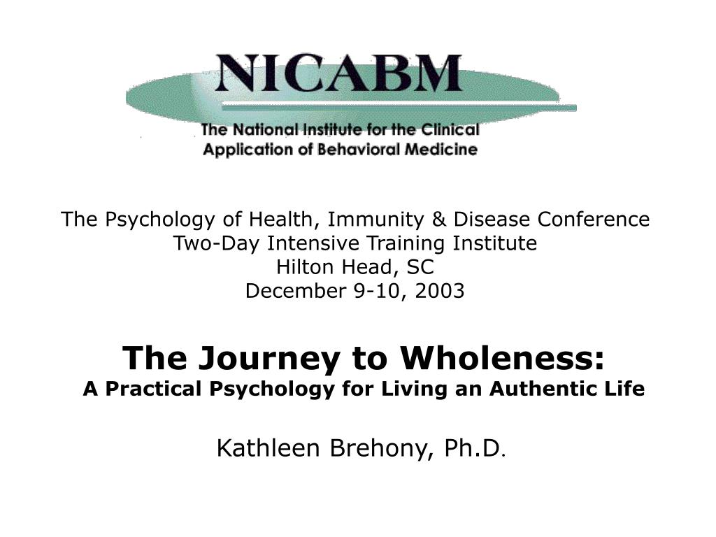 The Psychology of Health, Immunity & Disease Conference