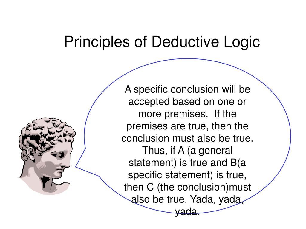 Principles of Deductive Logic