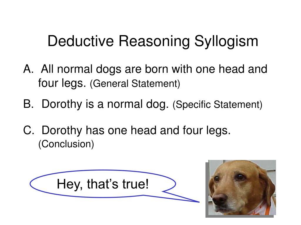 Deductive Reasoning Syllogism