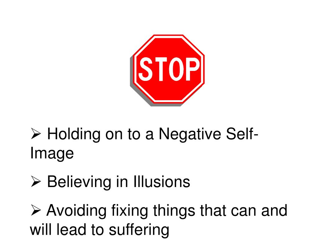 Holding on to a Negative Self-Image