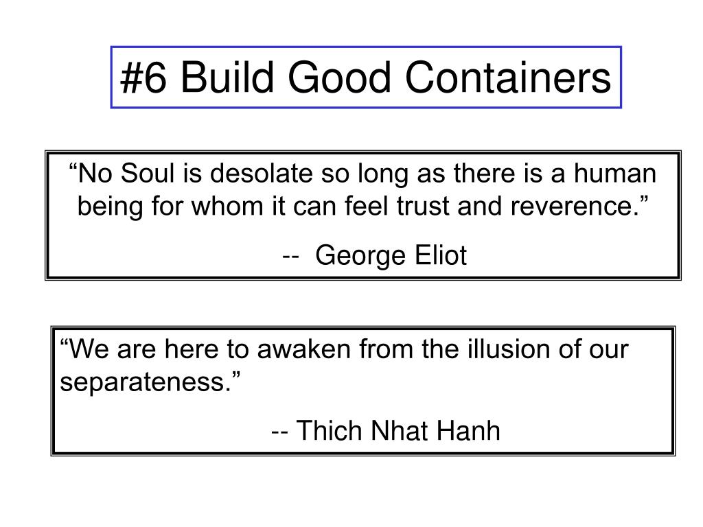 #6 Build Good Containers