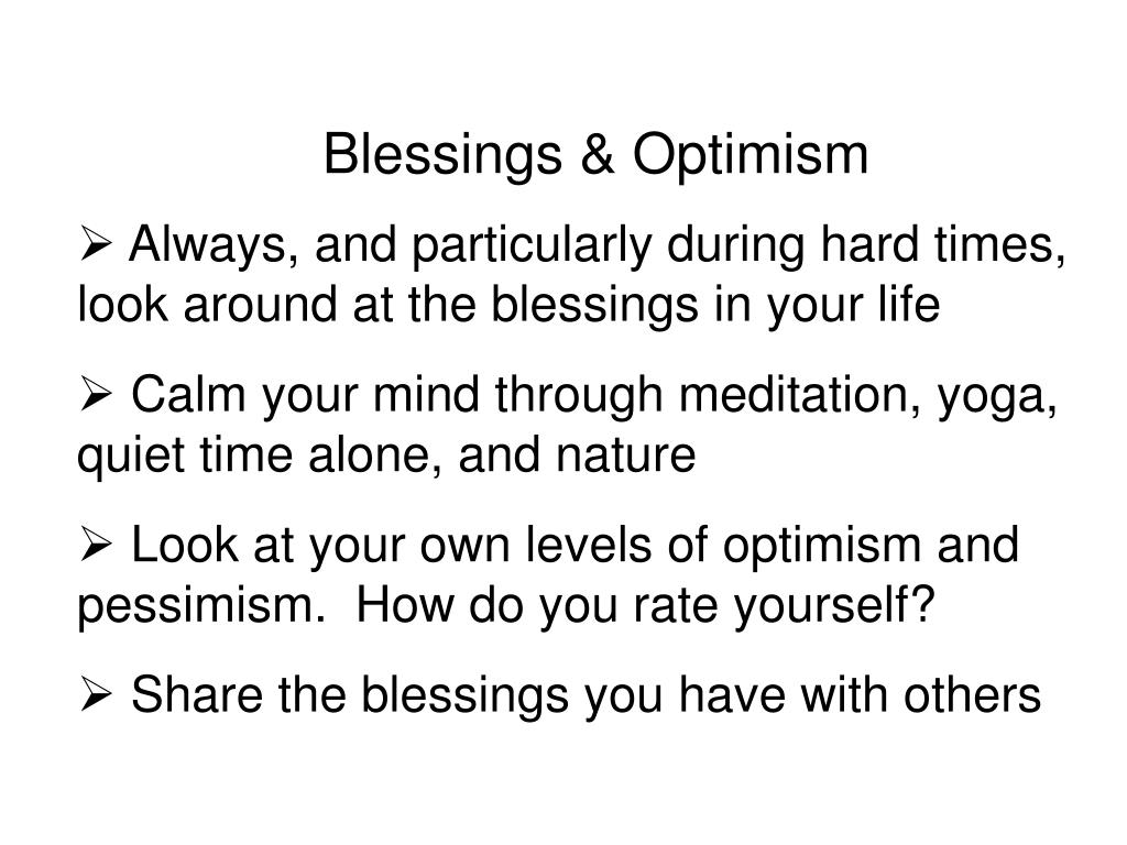Blessings & Optimism