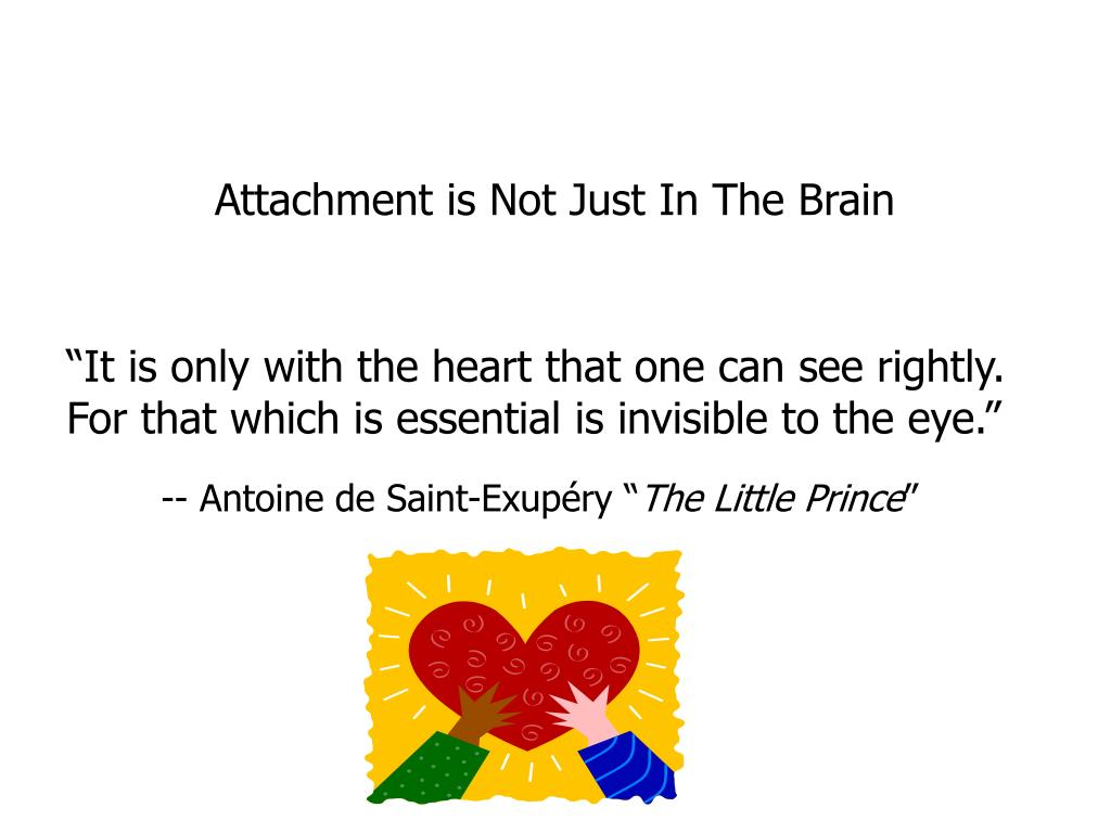 Attachment is Not Just In The Brain