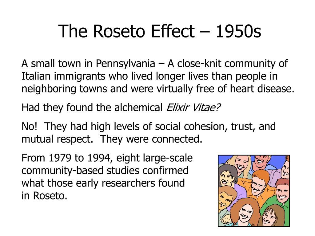The Roseto Effect – 1950s