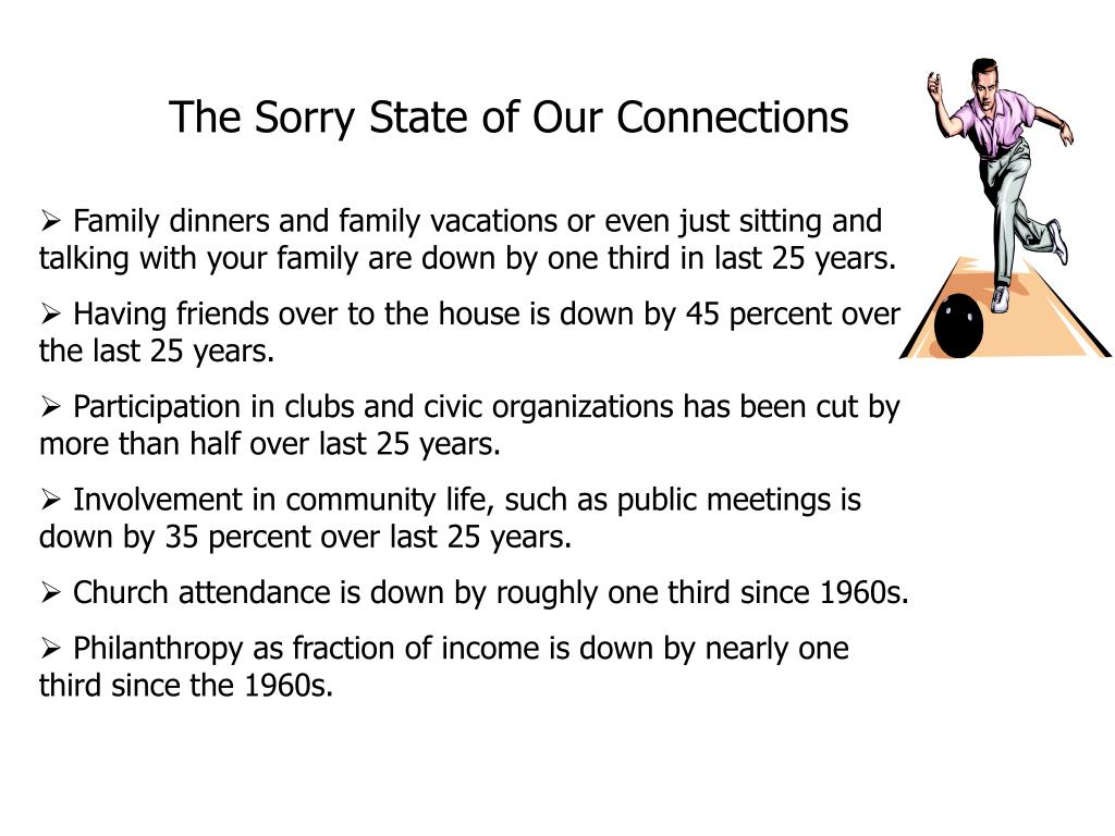 The Sorry State of Our Connections