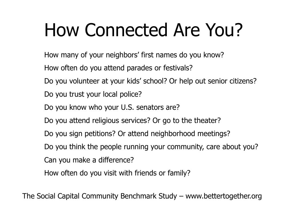 How Connected Are You?