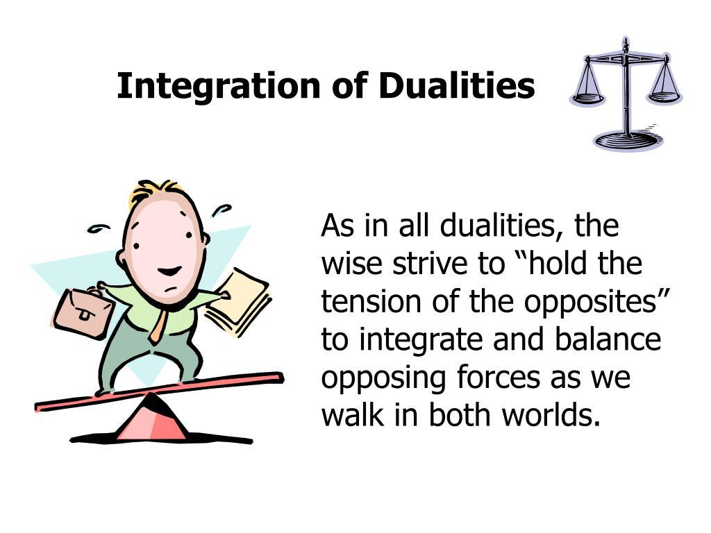 Integration of Dualities