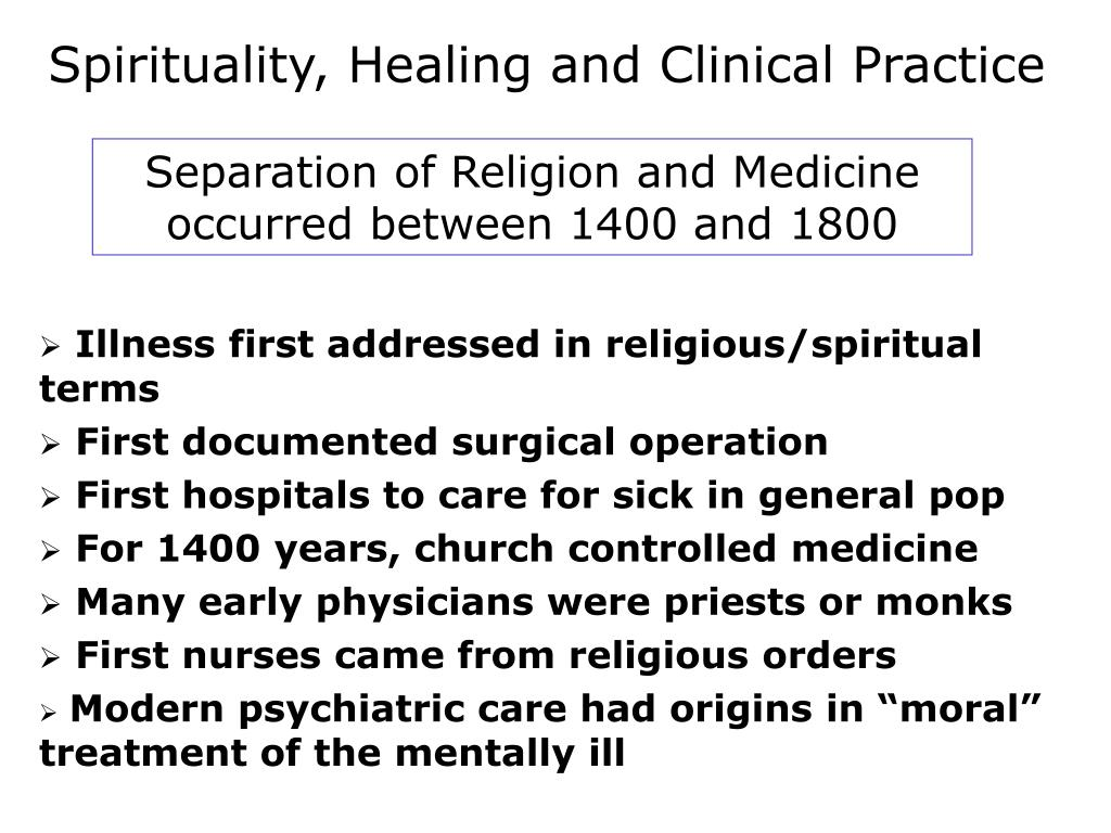 Spirituality, Healing and Clinical Practice