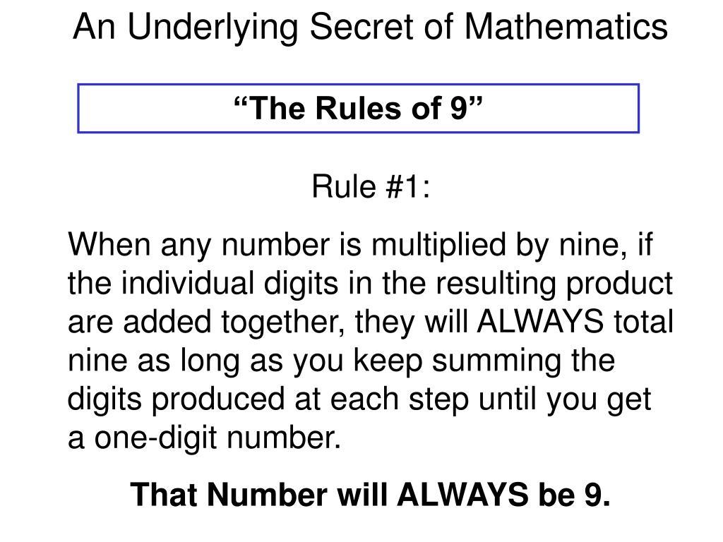 An Underlying Secret of Mathematics