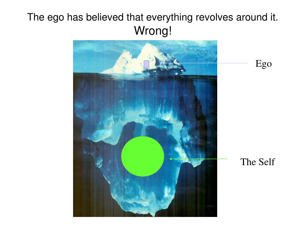 The ego has believed that everything revolves around it.