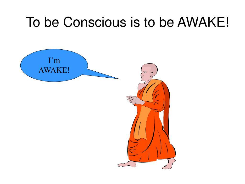 To be Conscious is to be AWAKE!