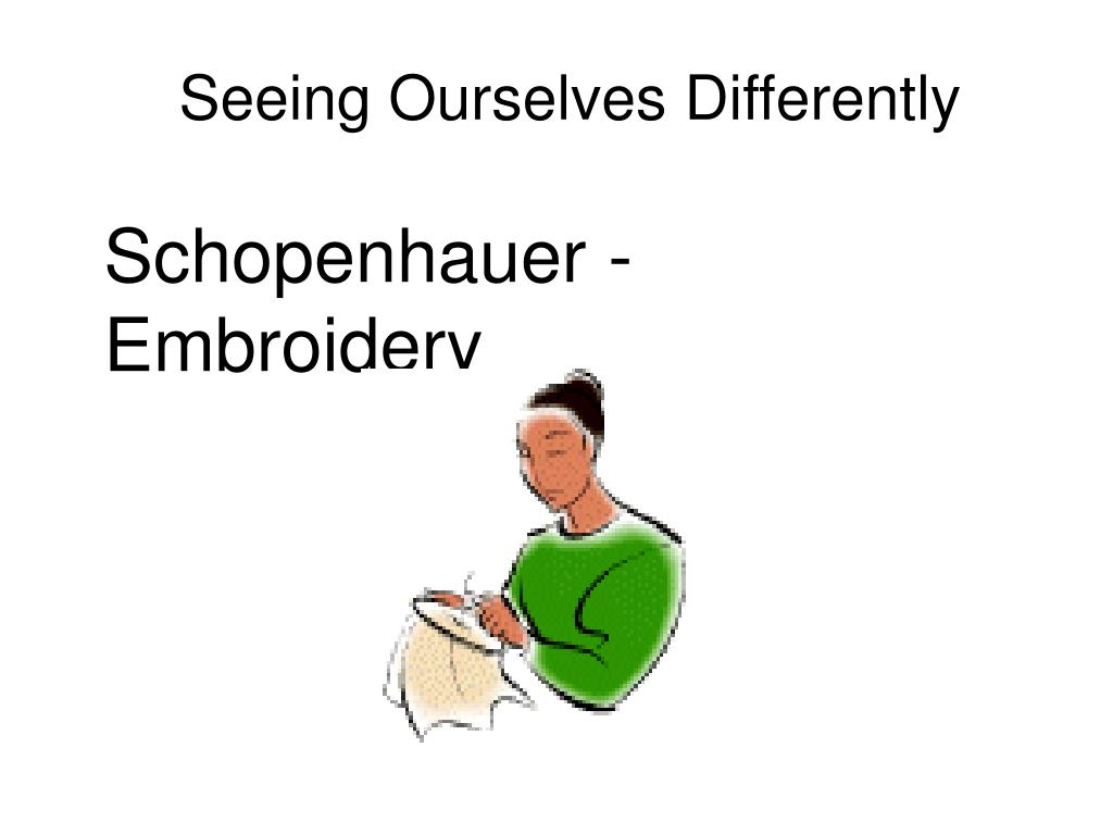 Seeing Ourselves Differently