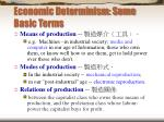economic determinism some basic terms