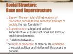 social structure base and superstructure