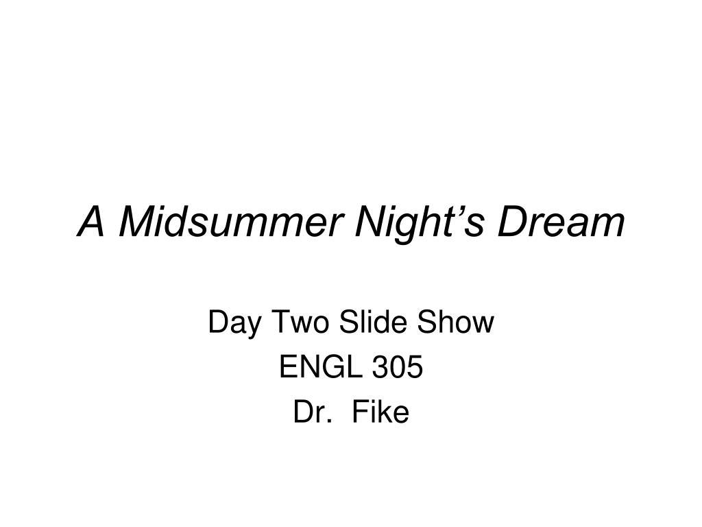 a midsummer night s dream l.