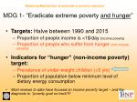 mdg 1 eradicate extreme poverty and hunger