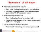 extension of vs model