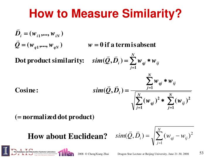 How to Measure Similarity?